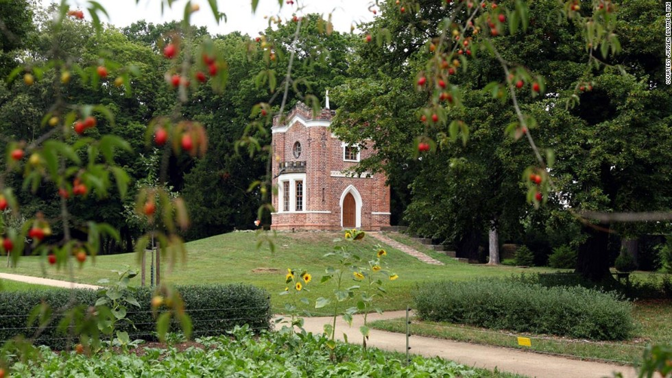 At Germany's Garden Kingdom Dessau-Woerlitz, the Snake House (pictured), so called because of the shape of its gutters, was a retreat for the wife of Prince Franz of Anhalt-Dessau.