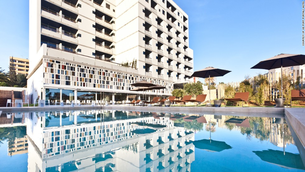 The new OD Port Portals hotel on the Spanish island of Mallorca has a 1960s vibe. Junior suite customers get use of a complimentary car or driver.