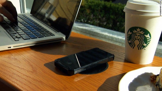 Starbucks is teaming up with Duracell Powermat to install wire-free chargers.