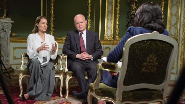 Jolie and Hague fight sexual violence