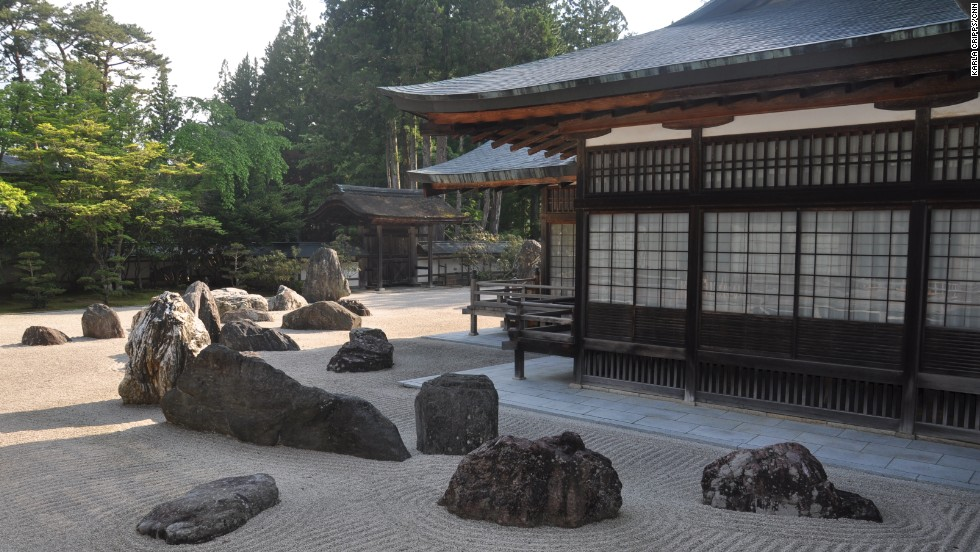 Japan's largest rock garden, Banryutei, sits in the inner courtyard at Koyasan's Kongobuji Temple. The rock garden was completed in 1984.