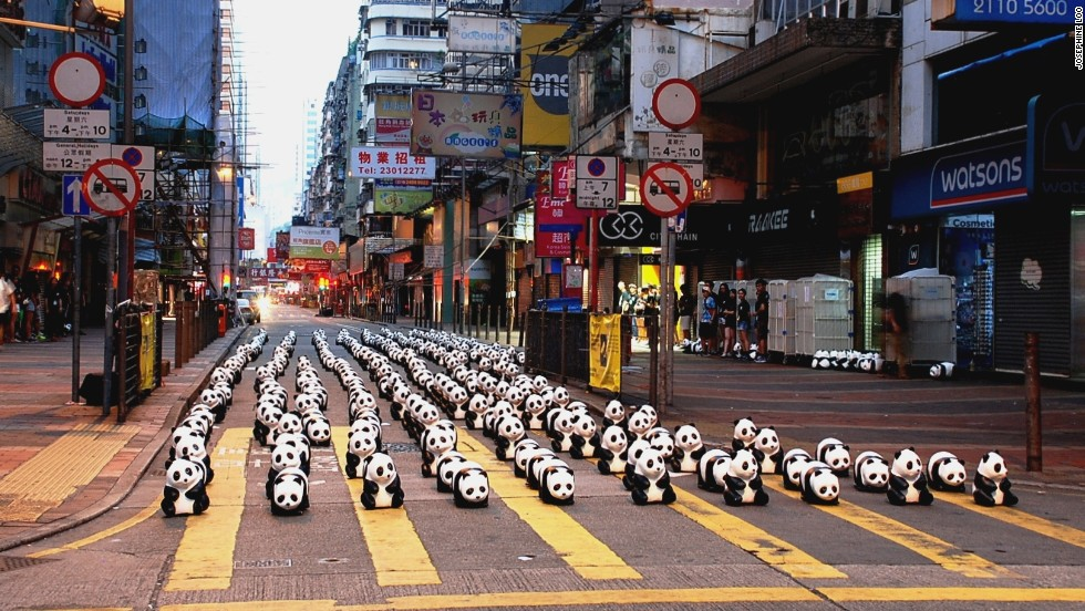 We'd prefer this scene over Mongkok's usual traffic any day.