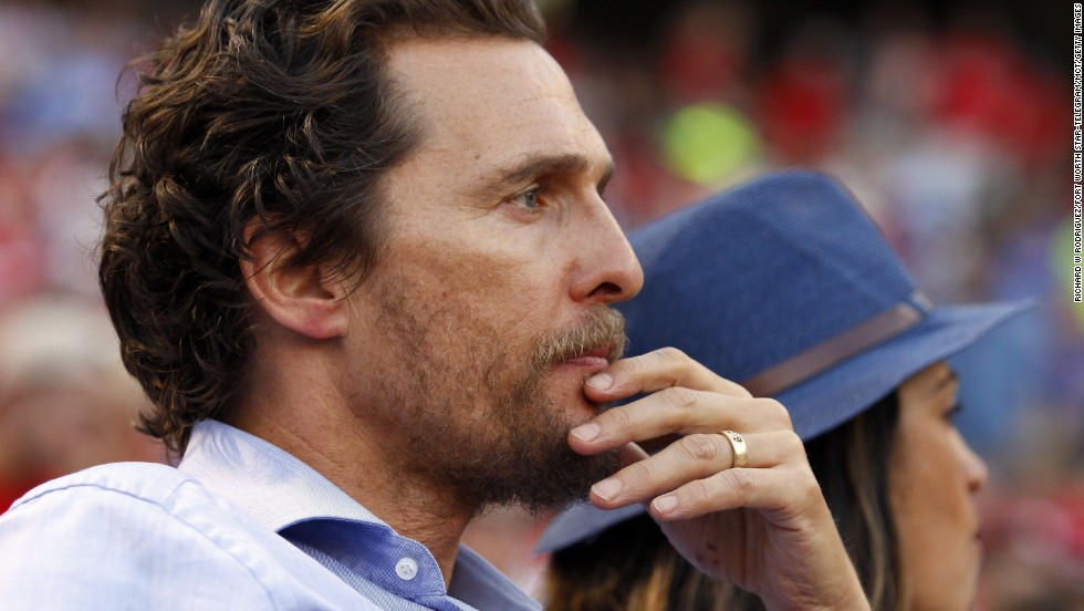 "<strong>Matthew McConaughey, father of three, on responsibility</strong>: ""Everything I do leads back to them -- how I take care of myself, how I handle myself, how I need to make sure that I stay healthy and literally alive, because they need me. That's a great responsibility."""