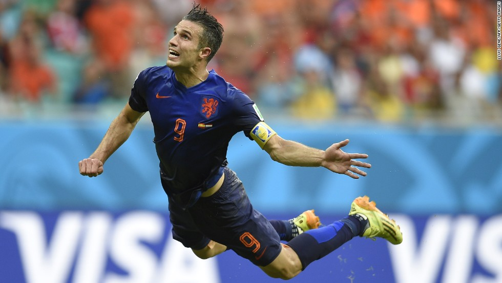 It was the goal which sparked the World Cup into life. Robin van Persie's flying header helped the Netherlands to come from behind and thrash defending champion Spain 5-1.