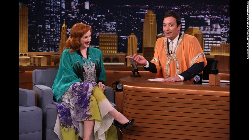 "Caftans are having a moment. Christina Hendricks, sporting one on ""The Tonight Show Starring Jimmy Fallon"" in April, declared the long, loose, robe-like garments her ""go-to"" items. In May, New York magazine encouraged readers ironically (or not?) to ""<a href=""http://nymag.com/thecut/2014/05/how-to-get-your-body-caftan-ready-for-summer.html"" target=""_blank"">get your body caftan-ready for summer</a>."" Take a look back at these well-known Westerners who embraced the Eastern-inspired look."