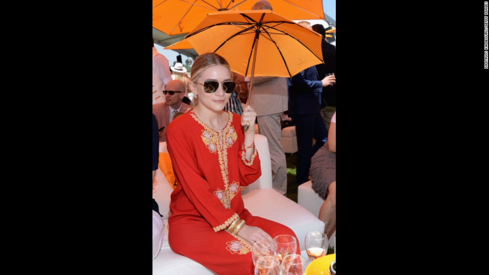 "Ashley Olsen wears a vintage caftan in 2013. Frocks resembling caftans first appeared in modern Western fashion in the 1920s when European designers such as <a href=""http://www.britannica.com/EBchecked/topic/466443/Paul-Poiret"" target=""_blank"">Paul Poiret</a> began <a href=""http://www.britannica.com/EBchecked/topic/466443/Paul-Poiret"" target=""_blank"">experimenting with ""Orientalist"" looks</a>, departing from fitted, tailored styles of the Victorian era in favor of draped pants and tunics."