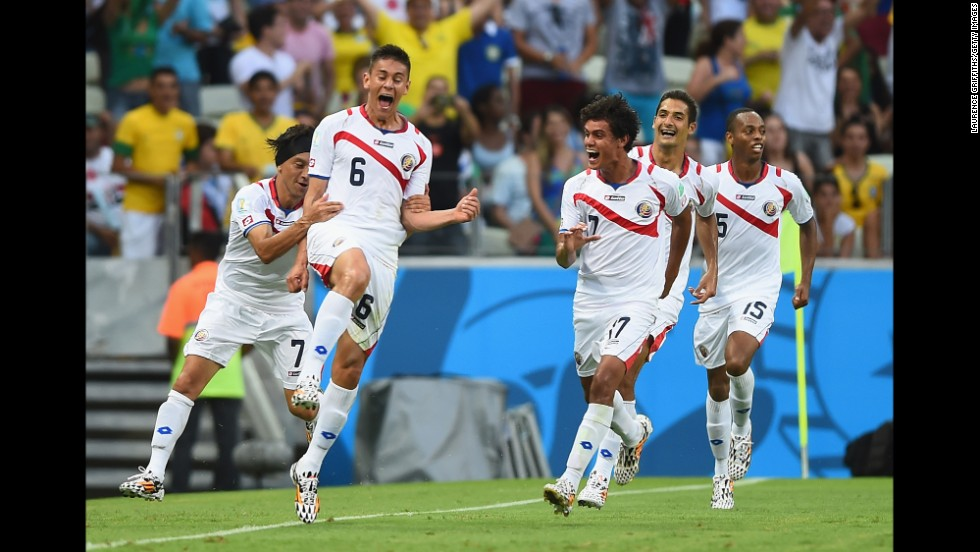 "Costa Rica's 3-1 win over Uruguay was one of the tournament's biggest shocks. The minnow, given no chance of qualifying from its group, trounced a team which had finished fourth in 2010. Led by Bryan Ruiz, ""Los Ticos"" reached the quarterfinals before losing on penalties against the Netherlands."
