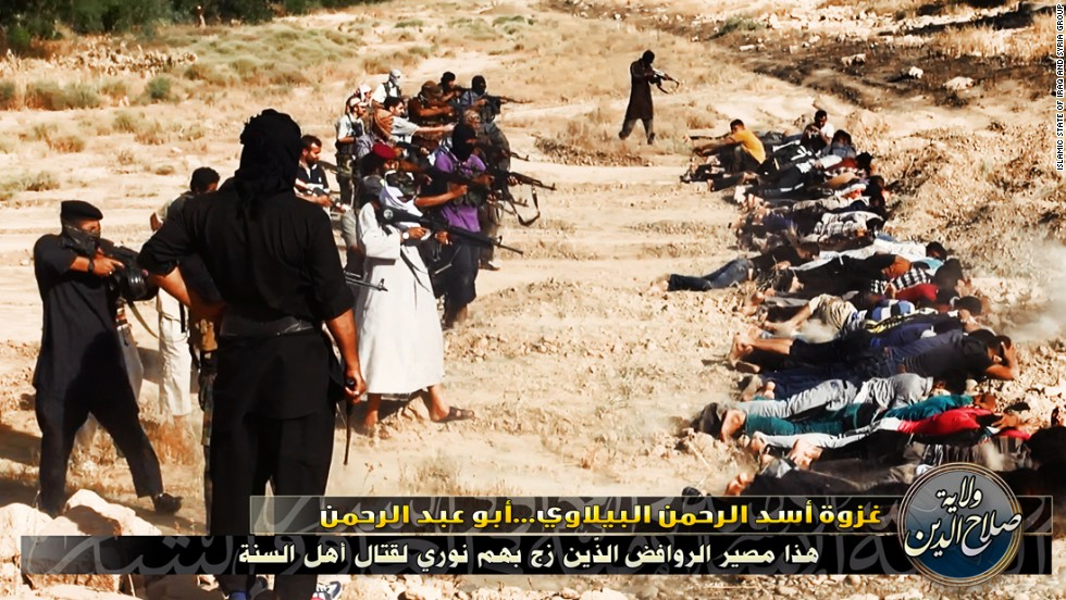 ISIS has repeatedly boasted of its brutality, as in this propaganda image of a purported 2014 execution.