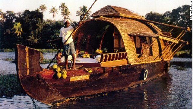 A Spice Coast Cruises' traditional houseboat.