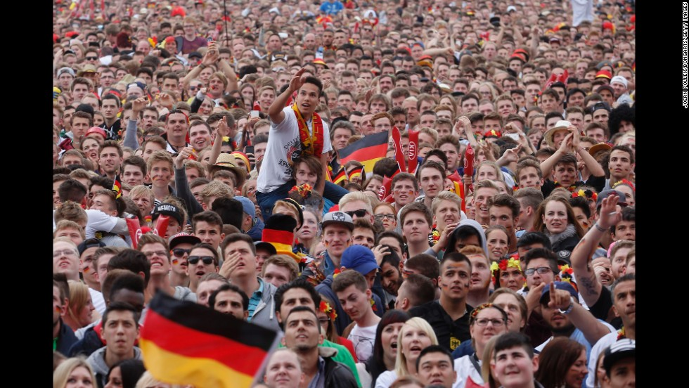 "Fans gather in Hamburg, Germany, to watch the game. <a href=""http://www.cnn.com/2014/06/15/football/gallery/world-cup-0615/index.html"">See the best World Cup photos from June 15. </a>"
