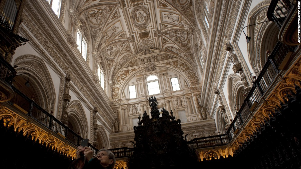 The Great Cathedral and Mosque in Cordoba, Spain, placed fourth on TripAdvisor's list of Top World Landmarks. The original medieval Islamic mosque was converted into a Roman Catholic cathedral in the 13th century.