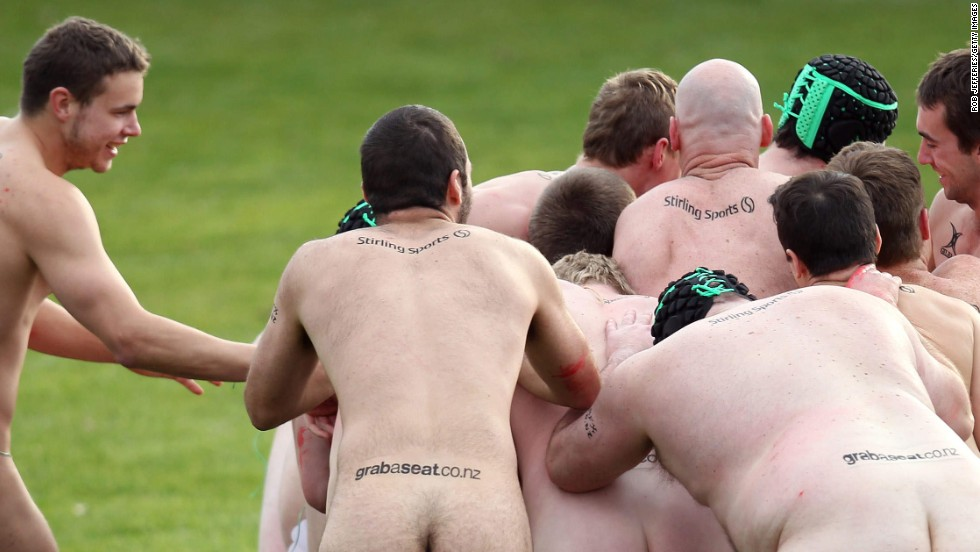 "Teams from New Zealand and England compete during a nude rugby match Saturday, June 14, in Dunedin, New Zealand. A nude rugby match has been <a href=""http://www.dunedinnz.com/visit/events/sport/nude-rugby"" target=""_blank"">held in Dunedin</a> every year since 2002."