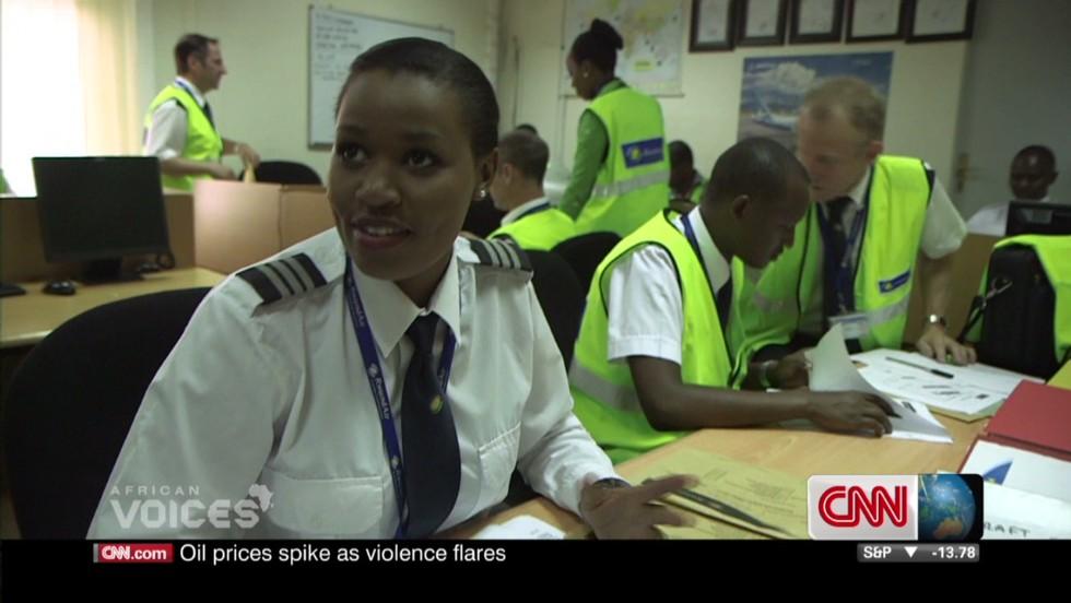 Rwanda's first female pilot takes to the skies