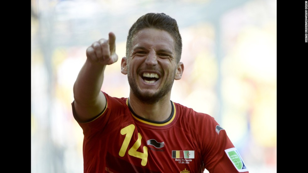 Mertens was a second-half substitute, coming on for Nacer Chadli at halftime.