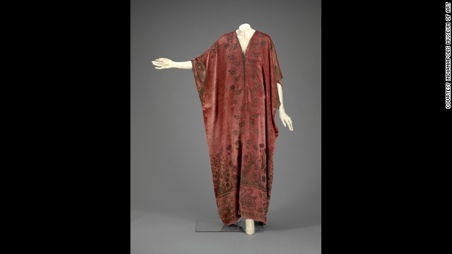 A 20th-century caftan of silk velvet by Mariano Fortuny y Madrazo at the Indianapolis Museum of Art.