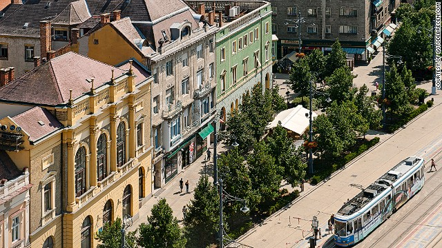 Debrecen's architectural mix is a draw for visitors.