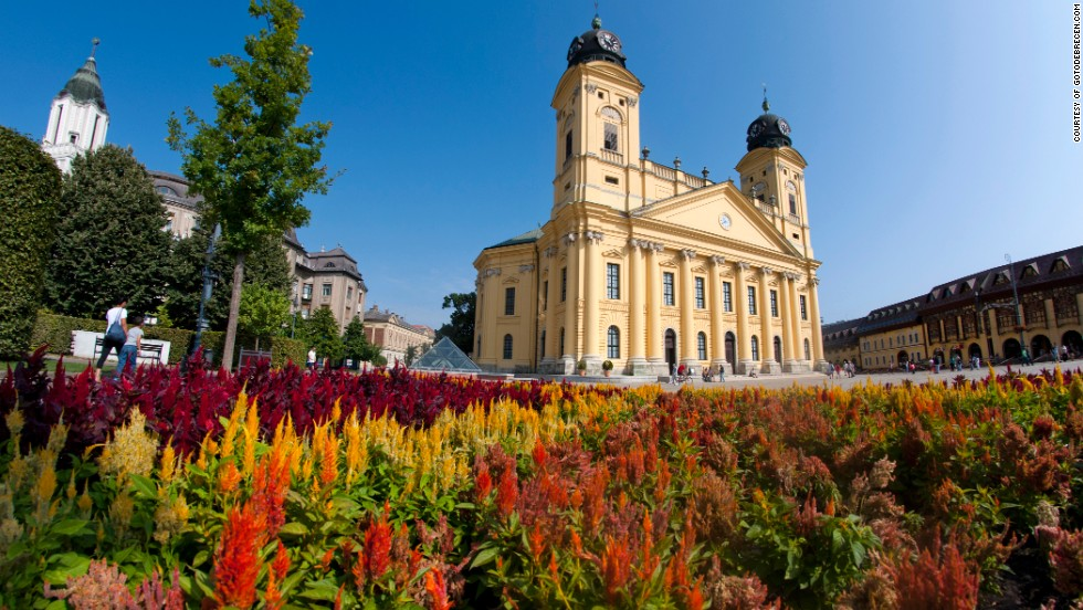 From the west tower of the city's largest church there's a grand overview of Debrecen and its surroundings -- a vast sea of grassland stretching across the Carpathian Basin.
