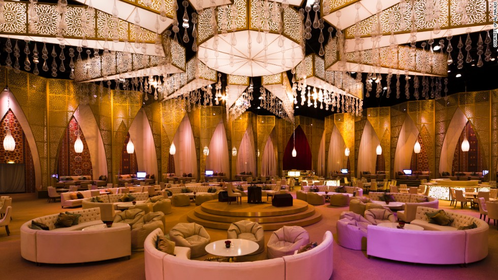 Bedouin-like tents, such as this one at Dubai's Madinet Jumeirah, are laid on by luxury hotels in the United Arab Emirates for people to break fast.