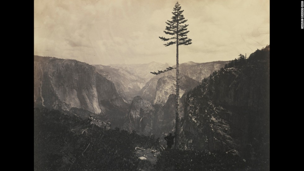 "In the midst of the Civil War, President Abraham Lincoln signed the <a href=""http://www.nps.gov/featurecontent/yose/anniversary/"" target=""_blank"">Yosemite Grant Act</a> on June 30, 1864, paving the way for the national park system. American photographer Charles Leander Weed captured this view of Yosemite Valley that same year."