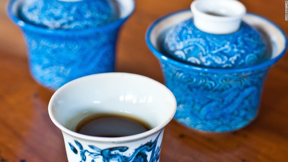 Pu'er is a fermented and aged black tea with a complex, earthy taste.
