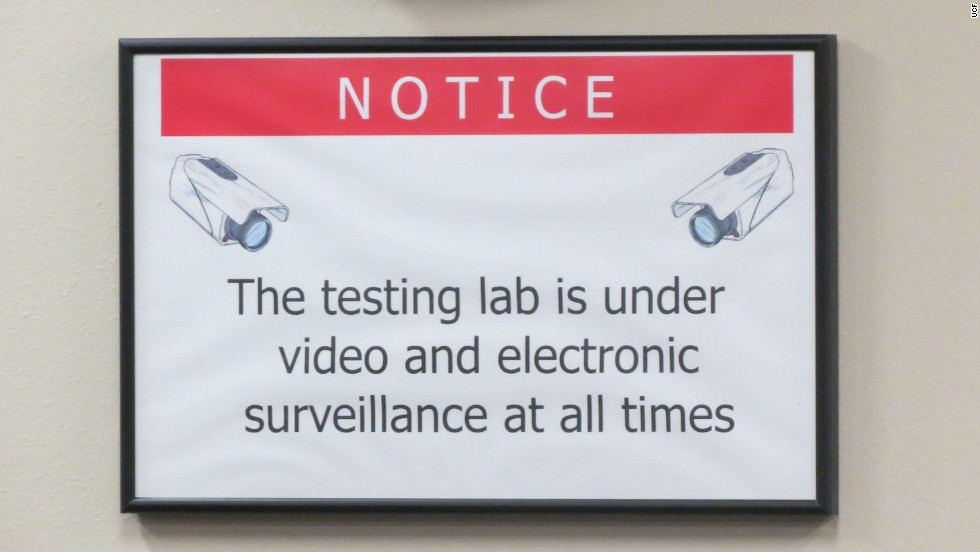 University of Central Florida's testing center is equipped with surveillance cameras.