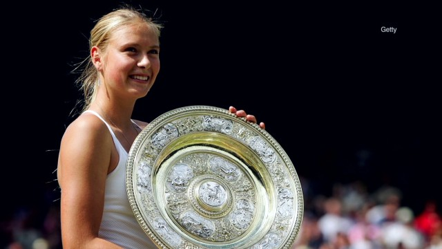 Sharapova's Wimbledon triumph