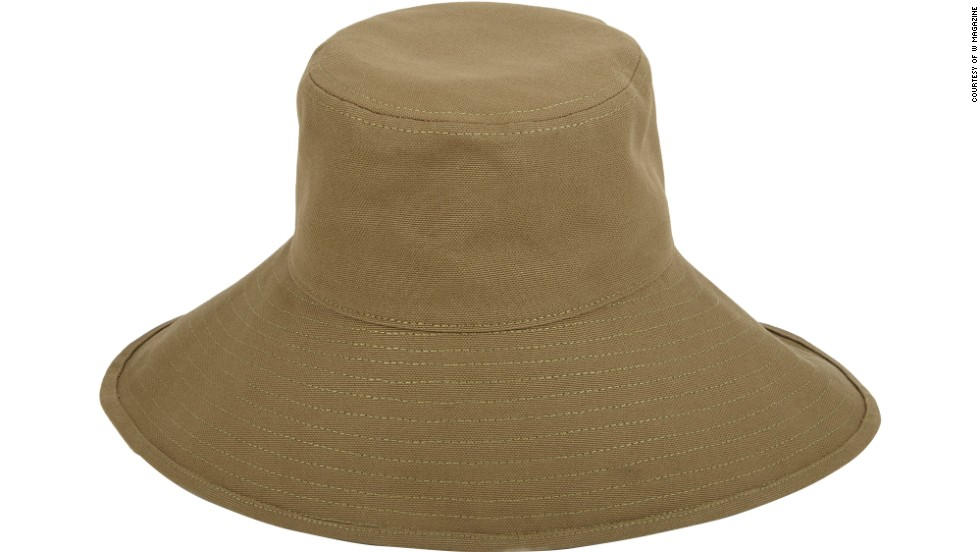 "A modern take on the fishing hat is easy to pack and will help protect from the elements. Barneys Olona Sunhat, <a href=""http://www.barneys.com/on/demandware.store/Sites-BNY-Site/default/Product-Show?pid=00505033565071&q=olona%20sunhat&index=4"" target=""_blank"">barneys.com</a>."