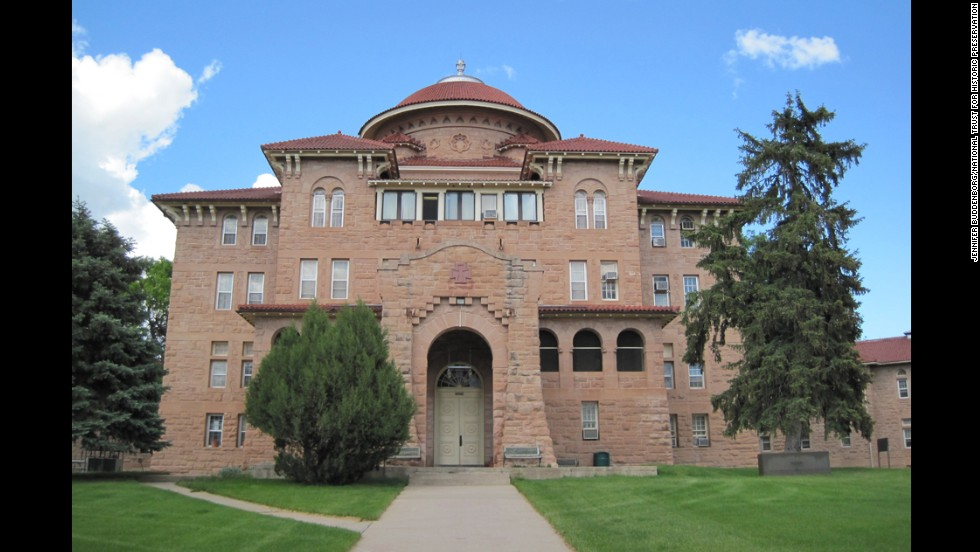 The main administration building of Battle Mountain Sanitarium in Hot Springs, South Dakota, marks the entrance to the facility that's provided medical care to veterans for more than a century.