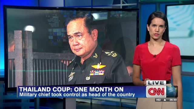 One month of military rule in Thailand