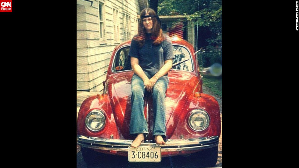 "At 19, <a href=""http://ireport.cnn.com/docs/DOC-1141211"">Janie Lambert</a> had her heart set on a 1960s Volkswagen Beetle. She was ecstatic to find this 1968 candy apple red number in a Knoxville, Tennessee, used car lot, partly because it went perfectly with the red, white and blue peace decal that she had been saving for her first car."