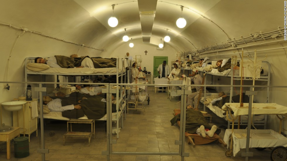 Located beneath Castle Hill, one local cave was used as a hospital in World War II. Conditions were cramped and the air was nearly unbearable due to the number of patients.