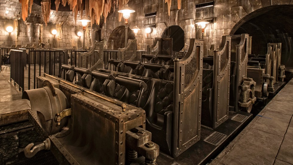 The 3-D ride takes visitors through the vaults of Gringotts.