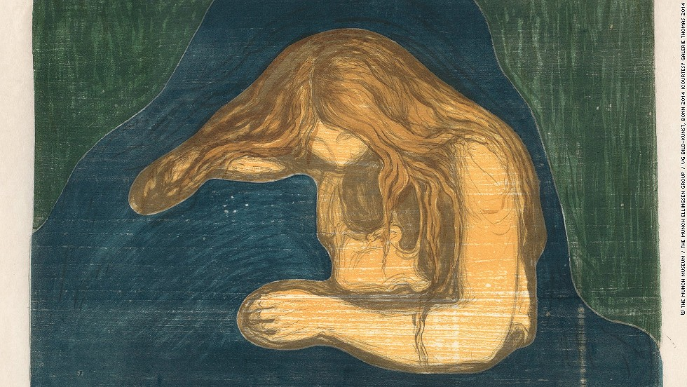 """<em>""""Vampire II"""" (1895/1902) by Norwegian artist Edvard Munch </em><br /><br />Other big hitters were <a href=""""http://www.damienhirst.com/"""" target=""""_blank"""">Damien Hirst's</a> installation <em><a href=""""http://www.damienhirst.com/nothing-is-a-problem-for-me"""" target=""""_blank"""">""""Nothing is a problem for me""""</em></a> sold for nearly $6m, and Ethiopian born artist <a href=""""http://whitecube.com/artists/julie_mehretu/"""" target=""""_blank"""">Julie Mehretu's</a> abstract canvass <em>""""Mumbo Jumbo""""</em>, which went for $4.85m. The fair, however, also displayed works of titans of 20th century art, such as this painting by Edvard Munch seen above."""