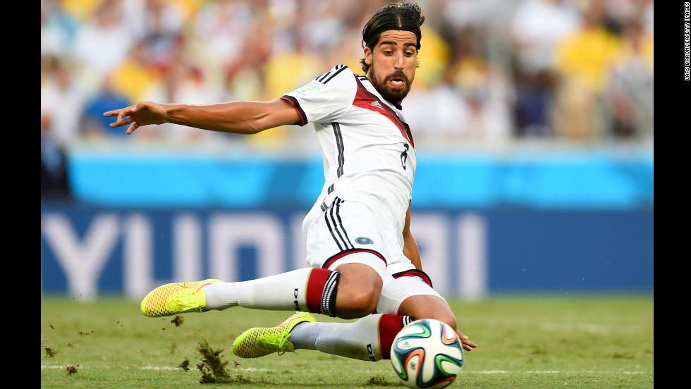 Sami Khedira of Germany in action during the match.