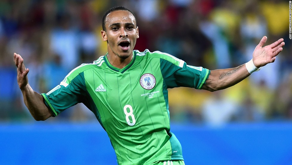 Peter Odemwingie of Nigeria celebrates scoring his team's lone goal, which proved enough.