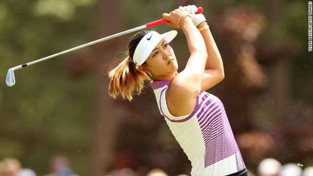 Michelle Wie hits an approach shot during her third round 72 at the U.S. Open at Pinehurst.