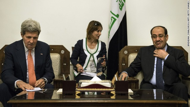 Kerry promises Iraq 'intense' support