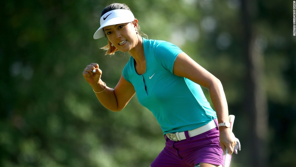 "Michelle Wie of the United States celebrates a birdie putt on the 17th hole during the final round of the 69th U.S. Women's Open in Pinehurst, North Carolina, on Sunday, June 22. Wie won <a href=""http://edition.cnn.com/2014/06/22/sport/golf/u-s-womens-open-michelle-wie-golf/index.html"">the first major title of her career</a>."