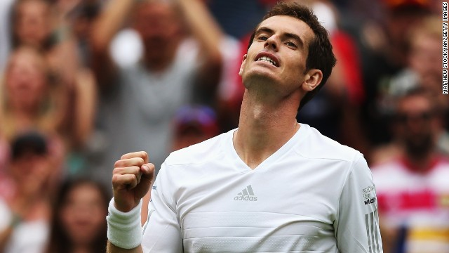 Andy Murray is bidding to win the third grand slam title of his career at the All England Club.