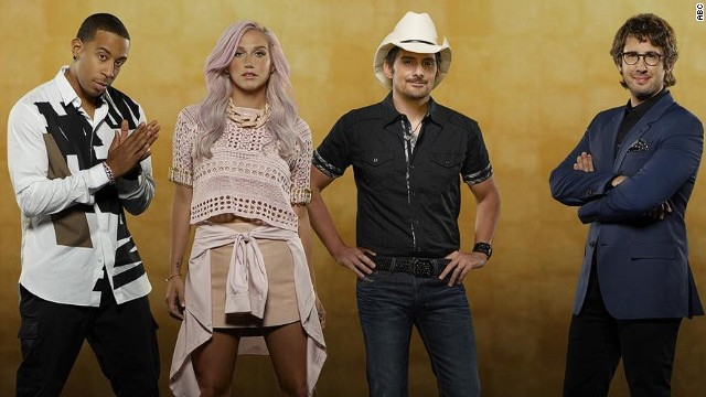 "From left: Ludacris, Kesha, Brad Paisley and Josh Groban are the celebrity stars of ABC's ""Rising Star."""