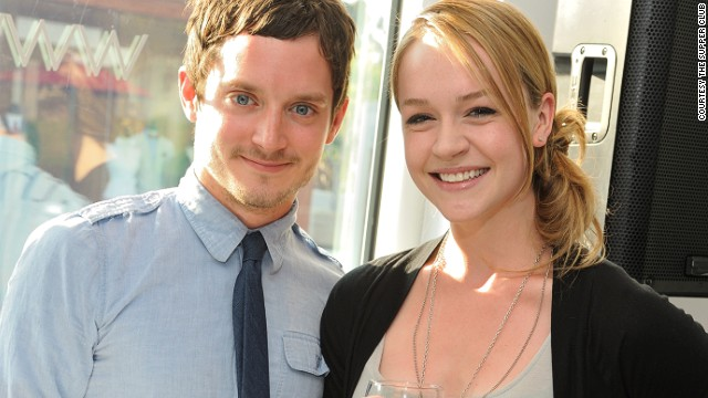 Actor Elijah Wood was a DJ at one Supper Club event.
