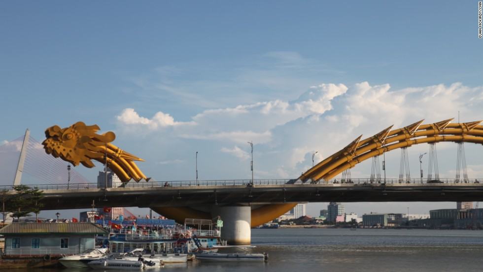 The Dragon Bridge opened in 2013. It's being seen as a symbol of the city's newfound prosperity.