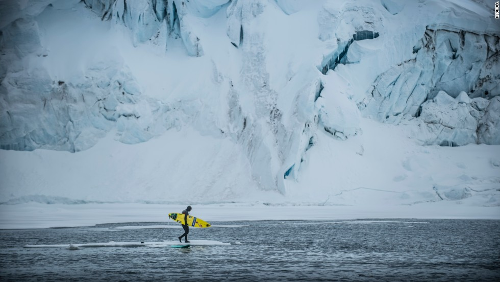 Overcrowding won't ever be a problem here. The first (and as yet, only) known person to surf in Antarctica was Red Bull athlete Ramon Navarro.