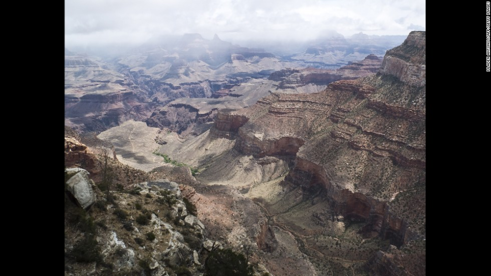 No matter what trail you choose, Arizona's Grand Canyon is sure to offer the breathtaking views. The Grand Canyon stretches for 277 miles of the Colorado River, which runs through the bottom of the canyon. From the canyon floor to the South Rim, the distance measures a full vertical mile.