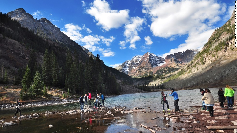 Aspen is the coolest winter town around, with high-end shops, restaurants and nightlife to outline its famous ski and snowboarding slopes. If the glitz is too blinding, head to the Maroon Bells-Snowmass Wilderness for a relaxing backpacking trip.