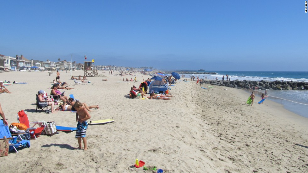 A section of California's Newport Beach receives top marks as well.