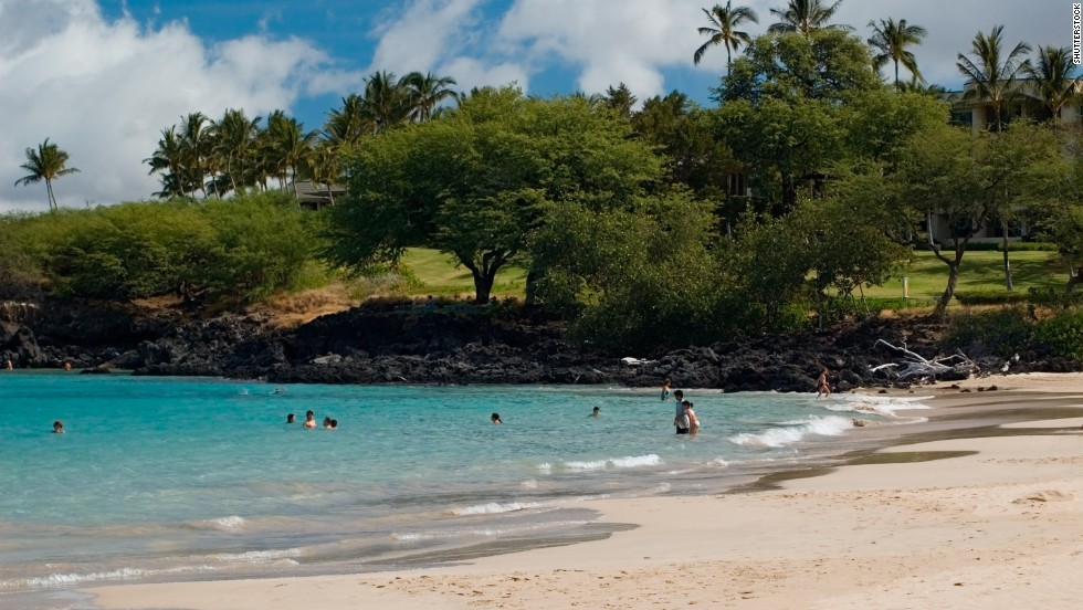 The water at Hapuna Beach State Recreation Area on Hawaii's Big Island is inviting and clean.