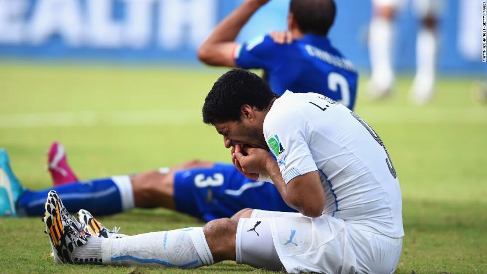 Luis Suarez is back in the limelight for all the wrong reasons. The Uruguay striker faces a FIFA investigation after appearing to bite Italian Giorgio Chiellini during the 2014 World Cup in Brazil.