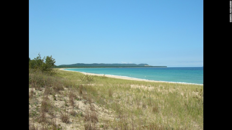 For a lovely lakefront beach, try Good Harbor Bay at Michigan's Sleeping Bear Dunes National Lakeshore.