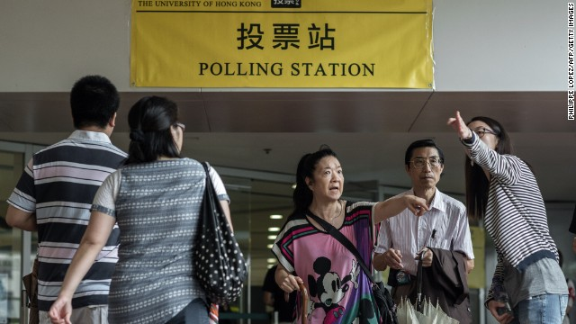 Hong Kong holds 'unofficial' referendum